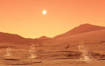 3d planets: Summerday from Mars
