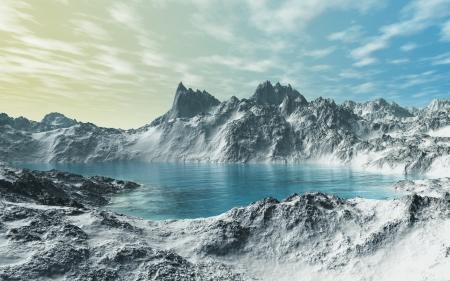 Glacial Lake Stock Photo - 16462378