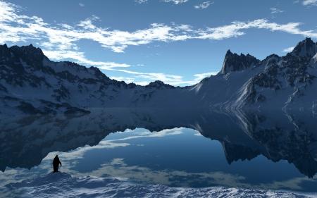 arctic landscape: Arctic Day Stock Photo