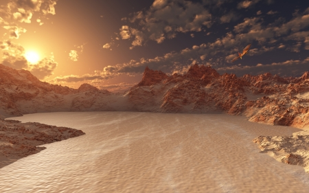 saurian: Red Valley Stock Photo