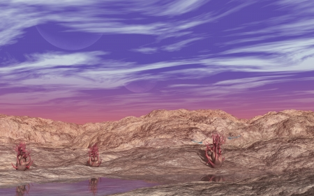 alien landscape: Alien Paesaggio