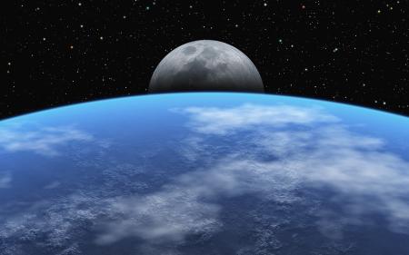 moonrise: Moonrise Stock Photo