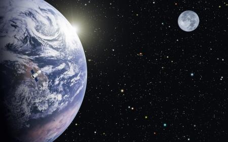 sunlight earth: Blue Planet