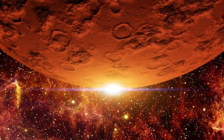 Red Planet Stock Photo