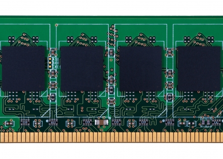 ddr3: Partially view of RAM memory module isolated on white background Stock Photo