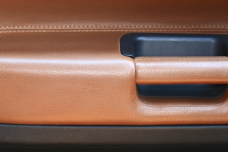 Combined leather trim in the car photo