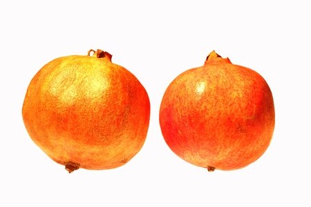 l nutrient: Two red ripe pomegranate Stock Photo