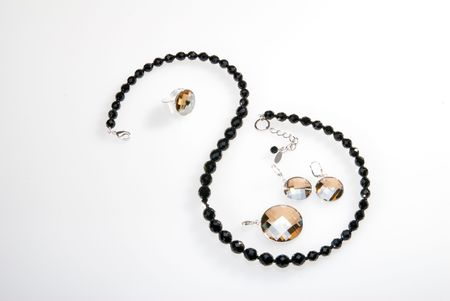 pendent: Necklace, pendent and earrings Stock Photo