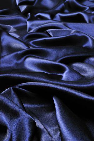 Blue satin textile background photo