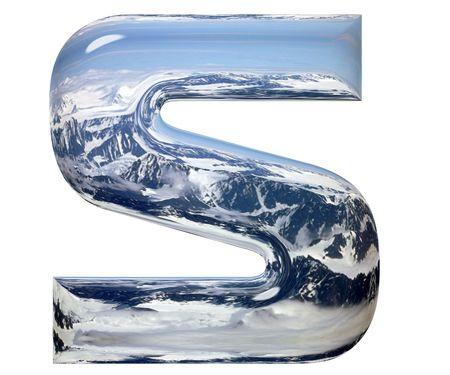 chrome alphabet: Chrome cast alphabet set, isolated on white. Computer generated 3D photo rendering.  Stock Photo