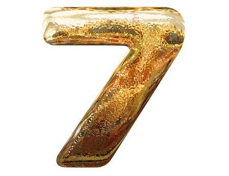 letras doradas: Letras de oro sobre fondo blanco
