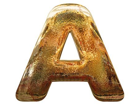 gold letter: Gold letters  on white background