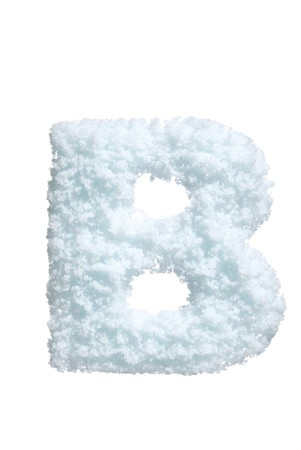 Letter from snow style alphabet. Isolated on white background.  photo