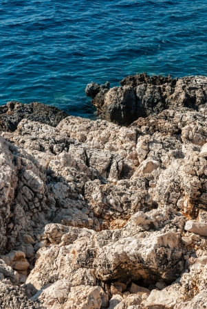 Rocky sea shore background Stock Photo - 17686975
