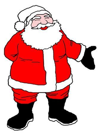 Santa with white background