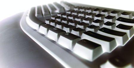 Techno looking keyboard photo