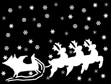 reindeer in black and white photo