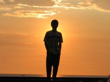 Sunset - silhouette photo