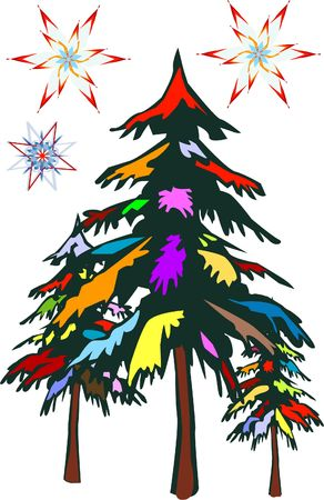 lonesome: Colourful Christmas Tree