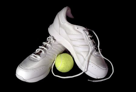 Tennis Shoe and Ball