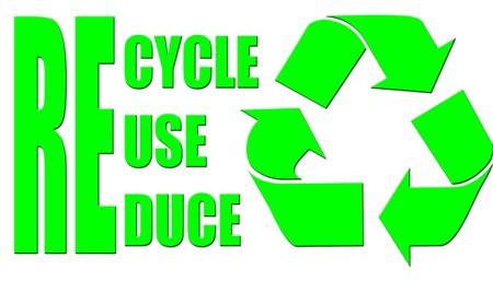recycle in a fluorscent green
