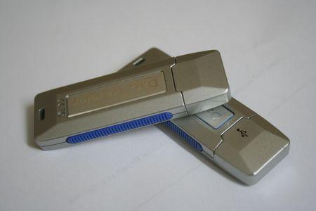 portable rom: Two USB sticks - Closed Stock Photo