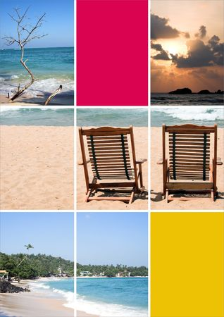 holiday dreams - vacation  tourist collage photo