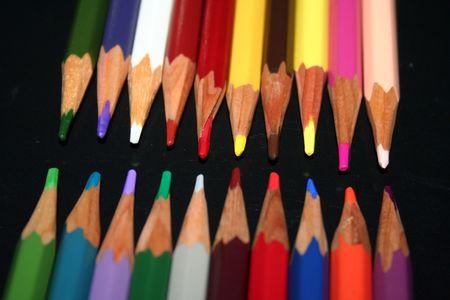 Colored pencils - ART Stock Photo