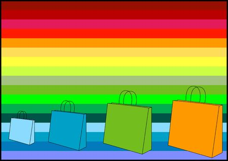 Shopping bags - (check out my portfolio for similar icons!) Stock Photo - 499957