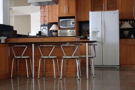 Indoor House - Luxury Kitchen Stock Photo
