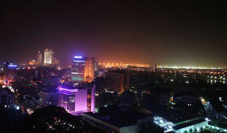 Skyline at Night, City Stock Photo - 737382
