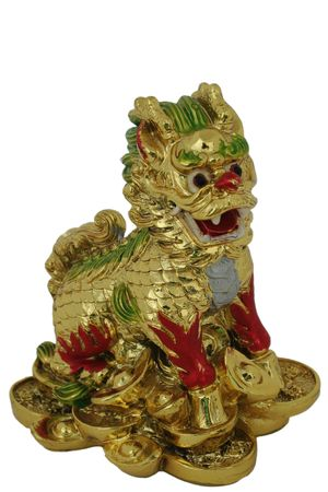 Chinese Dragon, resin cast - symbol for Year of the Dragon (Chinese Horoscope) Stock Photo