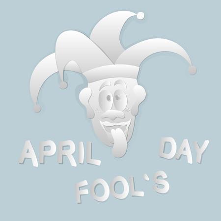 April Fools day vector illustration for greeting card, ad, promotion, poster, flier, blog, article, marketing, signage, email. Illustration