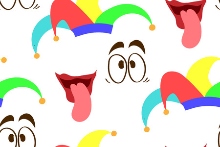 Funny seamless background for April Fool Day, Vector illustration
