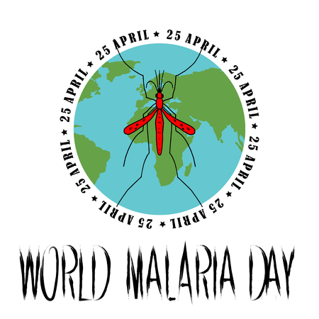 World Malaria Day - suitable for greeting card, poster and banner. vector illustration Illustration