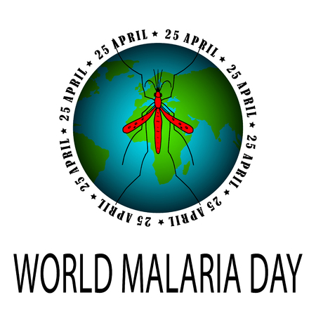 World Malaria Day - suitable for greeting card, poster and banner.  Vector illustration