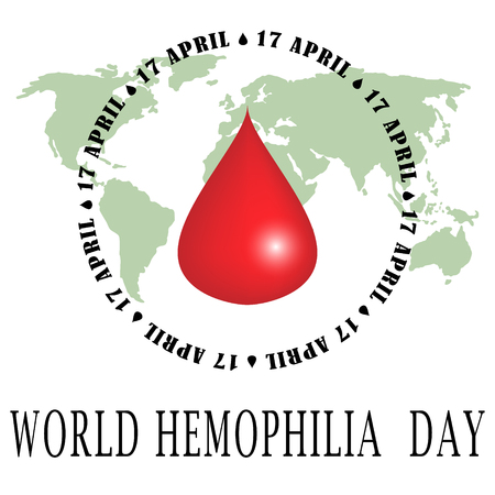 World Hemophilia Day - suitable for greeting card, poster and banner. Vector Illustration Vektorové ilustrace
