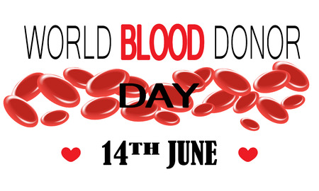 World Blood Donor Day - 14 June. Vector illustration