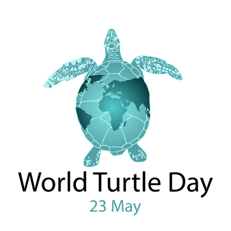 World Turtle Day 23 May background. Vector illustration Stock Illustratie