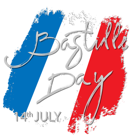 14 th of July. Happy Bastille Day. Creative Vector illustration, card, banner or poster for the French National Day