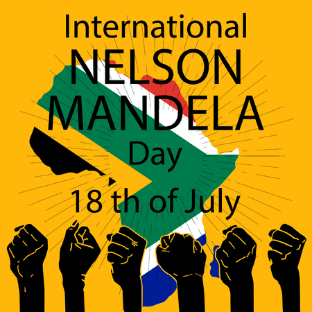 International Nelson Mandela Day. 18 July. Vector illustration