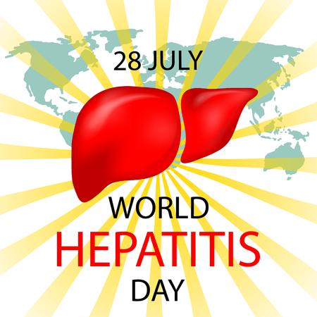 World Hepatitis Day design for medical cards, banners, web backgrounds. Vector illustration