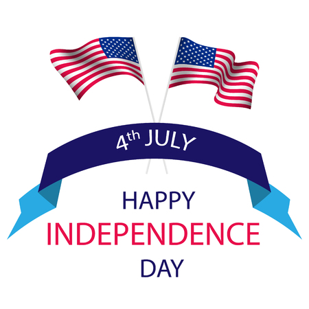 Independence Day of the United States. Can be used for 4th july as party invitation, background , backdrop, ad, sale promotion. Vector illustration