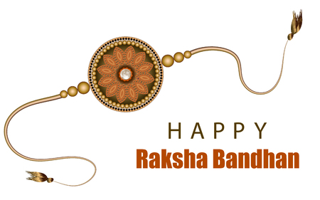 Raksha Bandhan Festival Greeting Card Template. Beautiful background with illustration of rakhi. Design Vector Illustration