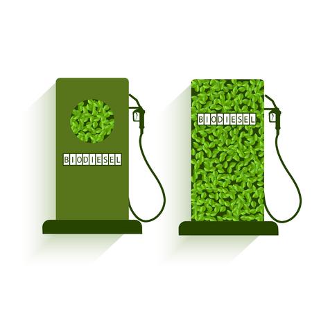 International Biodiesel Day. 10 August. Vector illustration of a fuel pump for International Biodiesel Day.