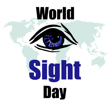 Creative Vector Illustration of World Sight Day. Ilustracja