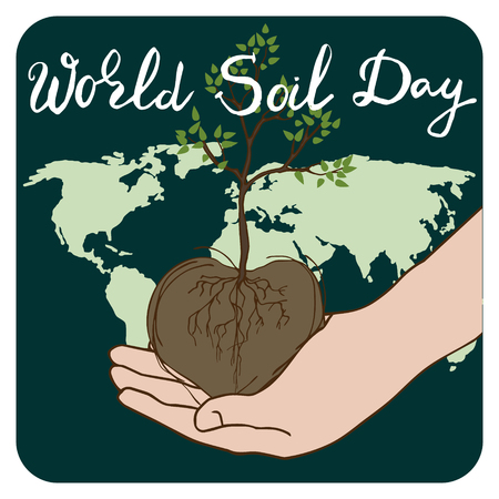 World Soil Day abstract concept for banner or poster design. The concept of an environmental event. Vector illustration