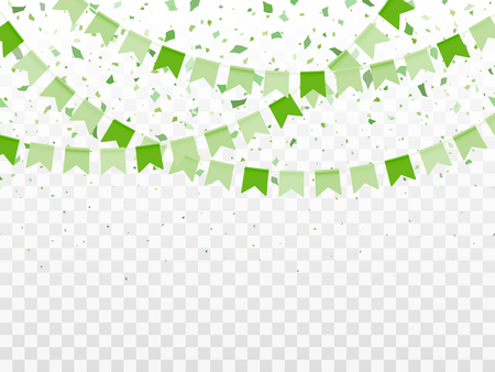St. Patricks day background in green colors. Vector Illustration of a St. Patricks Day Background Ilustração