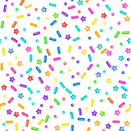 Sweet confetti seamless pattern Stock Illustratie