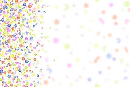 Sweet confetti seamless pattern Imagens - 126170748